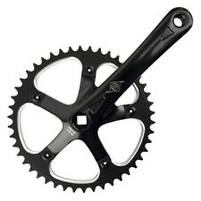 Bicycle CRANKSET 170x46 BLACK Fixie Alloy Alum Track Single Speed Bike FREE SHIP