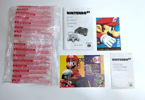 Nintendo 64 N64 Original System Instructions & Peripherals Inserts Bag RARE
