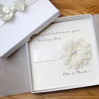 Handmade Personalised WEDDING / ENGAGEMENT Luxury Boxed Congratulations Card
