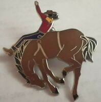 BAREBACK HORSE RIDING BRONCO BUSTER LAPEL PIN NICE COLLECTABLE OR GIFT