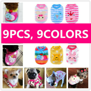 9x Pup Coat Pajamas Dog Clothes for Cat Toy Puppy Teacup Chihuahua Size XXXS XXS
