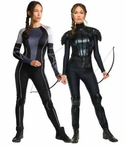 Official Ladies KATNISS Everdeen The Games or Rebel Fancy Dress Costume Outfit
