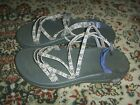 Chaco Womens Size 8 Purple Yellow Strappy Hiking Water Sandals