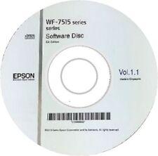 WF-7515 EPSON PRINTER SOFTWARE DRIVER DISC ON CD / DVD CLONE