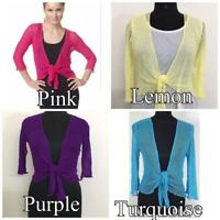 Women tie up open Front Shrug Ladies Knitted Cropped Bolero Short Cardigan Top