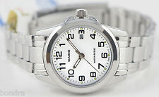 Casio LTP1215A-7B2 Ladies White Watch Steel Band Analog Dress Date Brand New