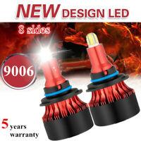 8-Sides CSP 9006/HB4 LED Headlight Bulbs Kit 2200W 480000LM Mini Fog Light 6000K