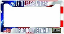 VETERAN US Army - I PROUDLY STAND License Plate Frame