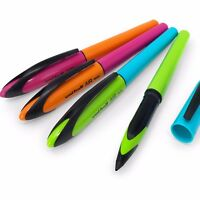 4 X Uni-Ball Aria Penne – 0.5mm - Blu,Verde,Rosa E Arancione Barile – Black Ink