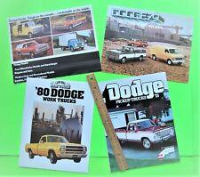 Four 1976 - 80 DODGE TRUCK CATALOGS Brochure 44-pgs WARLOCK Power Wagon 4WD Xlnt