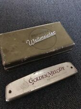 M. Hohner Harmonica + Weltmeister Box Germany Golden Melody Antique Vintage