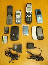 Lot Of 6 Verizon BlackBerry Lg Cell Phones Parts Repairs Chargers Clean Esn