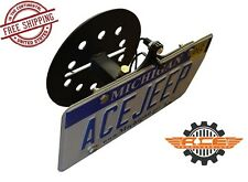 Ace Engineering Spare Tire License Plate Relocation for 07-17 Jeep Wrangler JK