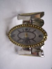 Watch, Ladies Silver & Gold Color Bangle, Brand New
