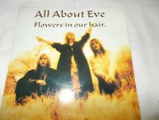 "ALL ABOUT EVE - FLOWERS IN OUR HAIR / PARADISE - UK 7"" P/S VINYL - GOTH"