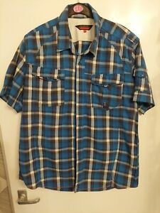 """Mens Duck and Cover Blue Check Shirt.Short Sleeve. Size XXL(48"""" Chest).See Pics."""