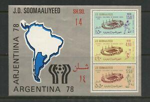 E406 Somalie 1978 Football Feuille MNH