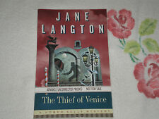 THE THIEF OF VENICE by JANE LANGTON    *SIGNED* -ARC-  -JA-