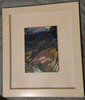 "Olympian Al Oerter Original Signed Painting 5.75""x7.5"" Framed & Mounted 13x15"