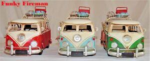 Tinplate camper van model ~ luggage rack ~ Vintage retro transport ~ Gift Idea