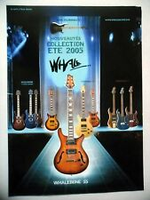 PUBLICITE-ADVERTISING :  Guitares WHALE Whalebone 55  07-08/2005 Narwhale II