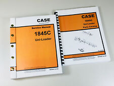 Case 1845c Uni Loader Skid Steer Service Manual Parts Catalog Repair Shop Books