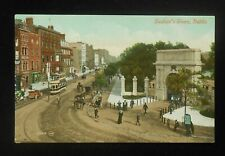1900s Stephen's Green Double Deck Tram Antique Cars Bicycle Carts Dublin Ireland