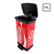Pattumiera bidone spazzatura rifiuti Curver  Coca Cola 50 Lt  rosso/bianco