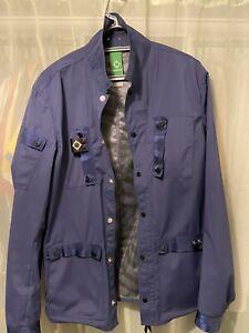 Ma.strum Overshirt Field Jacket Size Large Navy Blue