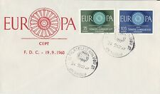 EU13) Turkey 1960 Europa Stamps On First Day Cover