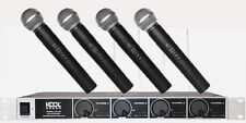 UHF Wireless Microphone Mic System W/ 4 Handheld Microphones KS-90H