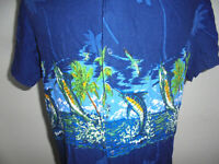 vintage K`ERA BEACH Hawaii Hemd hawaiihemd santa barbara shirt surf angeln 90s M