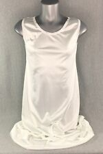 Vintage Womens S White Nylon Nightgown Lace Trim Authorized Pattern Made in USA