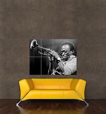 Cartel Impresión Música Foto músico de jazz Trompeta miles Davis Cool seb703