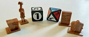Scene It? Seinfeld Brown Replacement Tokens & Dice Game Pieces