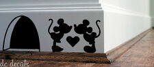 MICKEY MOUSE LOVE Wall Art Sticker Vinyl Decal Mice Home Skirting Board Funny