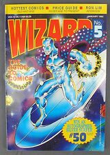 Wizard Comics Magazine #5 January 1992 Silver Surfer Cover w/ Poster Ron Lim NM