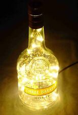 Unique Brandy Bottle Lamp with 40 Warm White LEDs Battery or USB LOW power