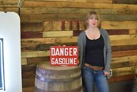 Danger Gasoline Industrial early Porcelain warning 1930's sign Factory Refinery
