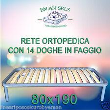 RETE ORTOPEDICA SINGOLA CON 14 DOGHE IN LEGNO FAGGIO CON PIEDI AVVITABILI