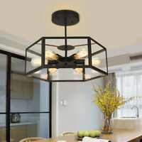 Glass Pendant Light Bar LED Ceiling Lights Black Chandelier Lighting Kitche Lamp