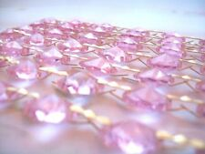 1 Yard Pink Chandelier Crystals Garland Wedding Decor