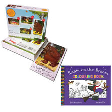 Julia Donaldson Gruffalo 4 in 1 Jigsaw Puzzles With Room on the Broom Colouring