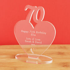 70th Birthday Personalised Milestone Heart Keepsake Gift Idea for HIM OR HER!