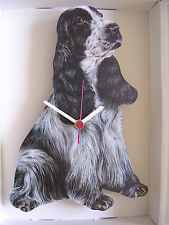 Blue Roan English Cocker Spaniel Dog Wall Clock. New & Boxed.