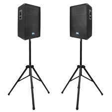 "Seismic Audio Pair  12"" PA Speakers w/2 Tripod Speaker St&s-PA/DJ B& PA Package"