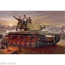 Trumpeter 1/35 00360 KV-1 Model 1942 Lightweight Cast Tank Model Kit