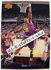 1995-96 Upper Deck KARL MALONE Electric Court SILVER Retail HOF Jazz MAILMAN #69
