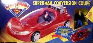 Superman Conversion Coupe + Clark Kent AF Deluxe Boxed Set Kenner 1996 .