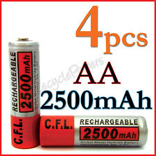 4 pcs Ni-Mh NiMH AA 2A 2500mAh rechargeable battery C.F.L